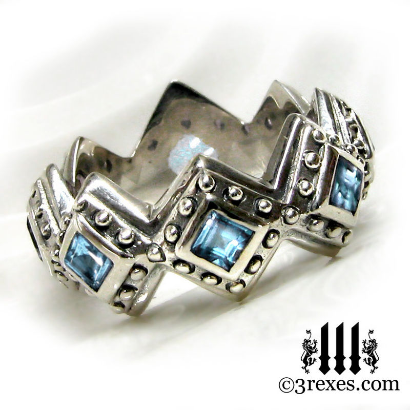 medieval wedding rings on sold discounted royal renaissance wedding ring blue topaz size - Medieval Wedding Rings
