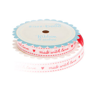 Made With Love Ribbon - Red 3 metre spool - product images